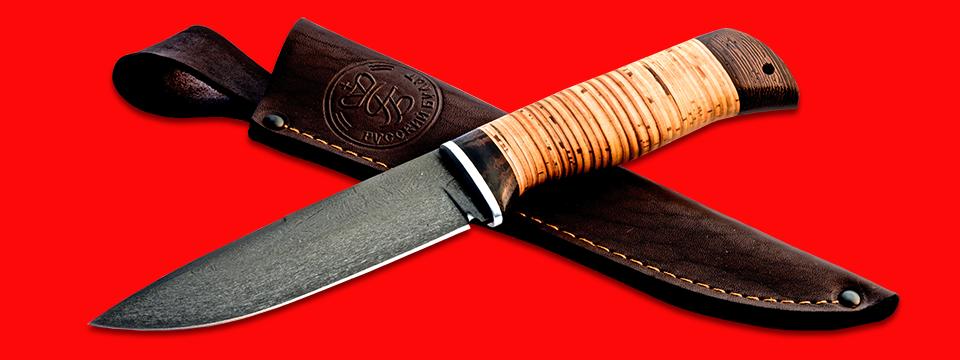 """Нож """"Старатель"""", клинок сталь Х12МФ, рукоять береста, с отверстием под темляк (ремешок)"""