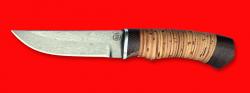 """Охотничий нож """"Бурундук"""", клинок сталь D2, рукоять береста"""