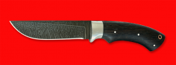 """Охотничий нож """"Грибник"""", цельнометаллический, клинок дамасская сталь, рукоять венге, отверстие под темляк"""