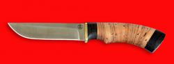 """Охотничий нож """"Грибник"""", клинок сталь Vanadis 10, рукоять береста"""