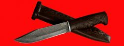 """Нож охотничий """"Профессиональный таежный № 1"""", клинок тигельный булат, рукоять венге, деревянный чехол"""