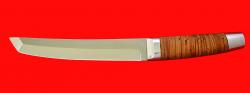 """Нож """"Самурай большой"""", клинок порошковая сталь ELMAX, рукоять береста, металл"""