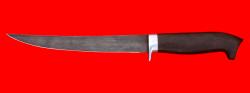 """Филейный нож """"Судак большой"""", клинок дамасская сталь, рукоять блэквуд"""
