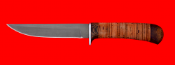 """Нож """"Засапожный №1"""", клинок сталь Х12МФ, рукоять береста"""